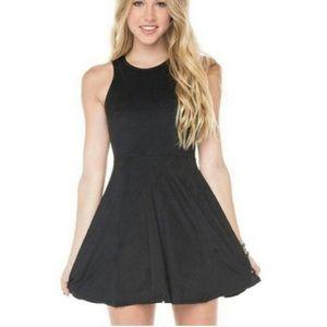Brandy Melville Black Mini Skater Flare Dress